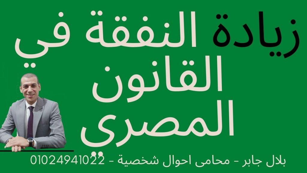 زيادة النفقة في القانون المصري